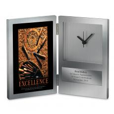 Executive Gifts - Excellence Wood Carving Desk Clock