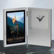 Make It Happen Climbers Desk Clock