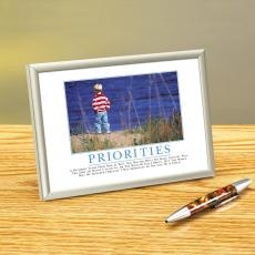 Priorities Boy Framed Desktop Print
