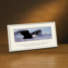 Excellence Eagle Lithograph Framed Desktop Print