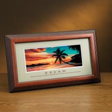 Dream Beach Framed Desktop Print