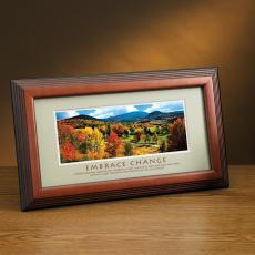 Embrace Change Seasons Framed Desktop Print