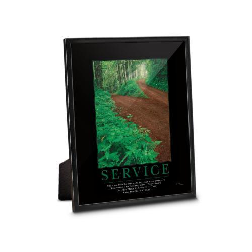 Service Path Framed Desktop Print