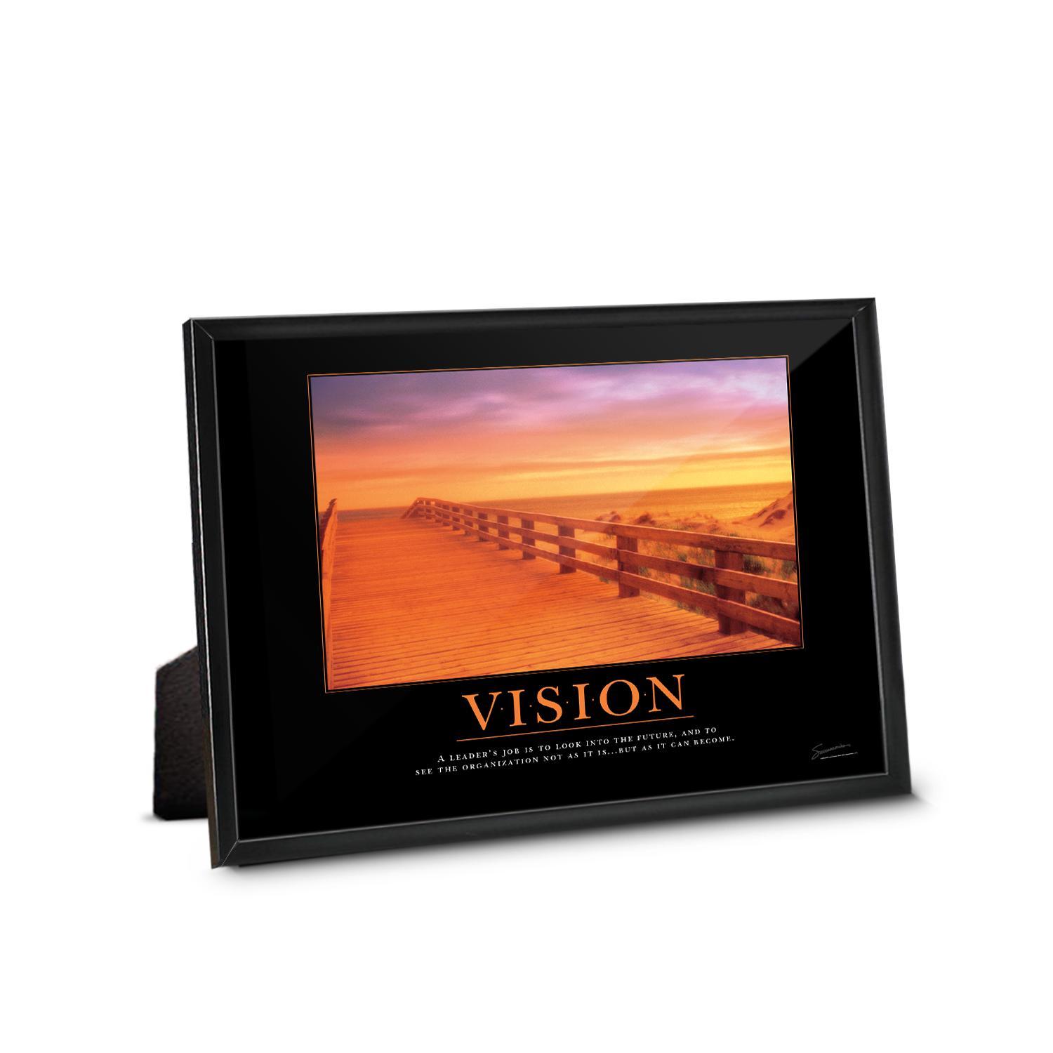 Vision Boardwalk Framed Desktop Print