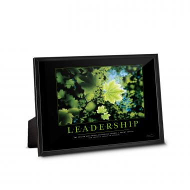 Leadership Leaf Framed Desktop Print