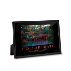 Corporate Impressions - Collaborate Bridge Framed Desktop Print