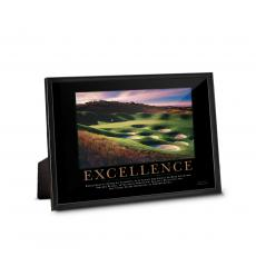 Classic Motivational Prints - Excellence Golf Framed Desktop Print