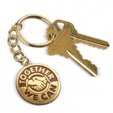 Together We Can Medallion Key Chain