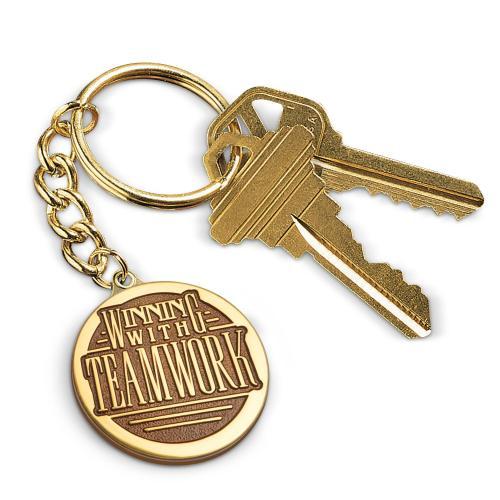Winning with Teamwork Medallion Key Chain