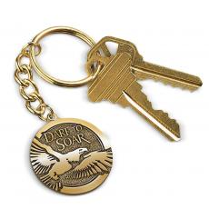 Executive Gifts - Dare to Soar Medallion Key Chain