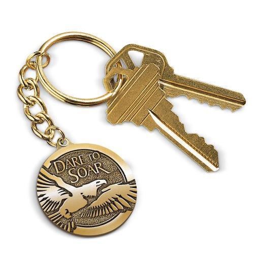 Dare to Soar Medallion Key Chain
