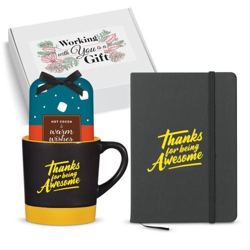 Holiday Gift Set - Thanks for Being Awesome Matte Mug Gift Set