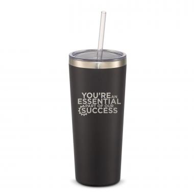 The Joe Straw - Essential Part 20oz. Stainless Steel Tumbler