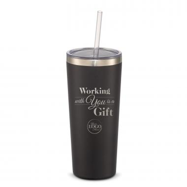 The Joe Straw - Holiday Gift 20oz. Stainless Steel Tumbler
