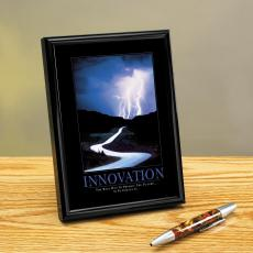 Innovation Lightning Framed Desktop Print