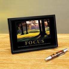 Focus Golf Framed Desktop Print