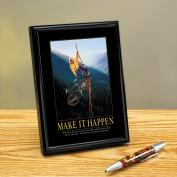 Make It Happen Climbers Framed Desktop Print