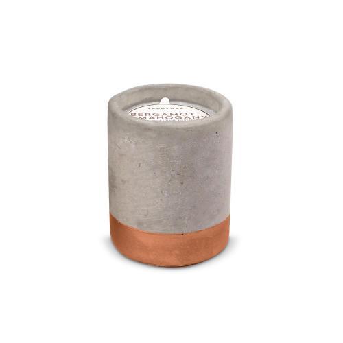 Bergamot & Mahogany Personalized Concrete Candle