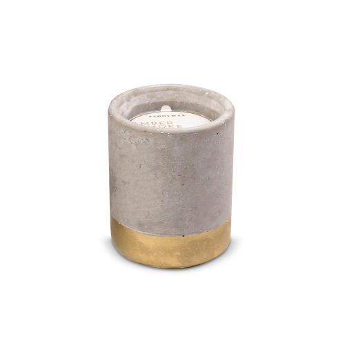 Amber & Smoke Personalized Concrete Candle