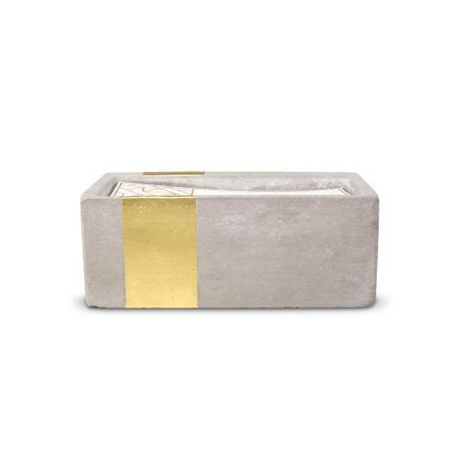 8oz. Amber & Smoke Personalized Concrete Candle