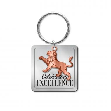 Celebrating Excellence Lion Metal Keychain