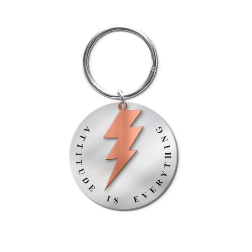 Attitude Lightning Metal Keychain