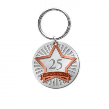 Years of Service Metal Keychain