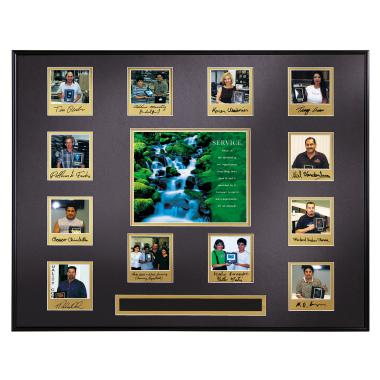 Service Waterfall Perpetual Award Plaque