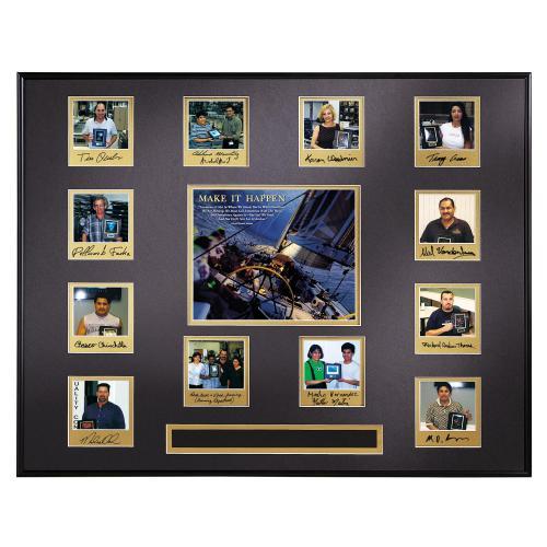 Make It Happen Sailboat Perpetual Award Plaque