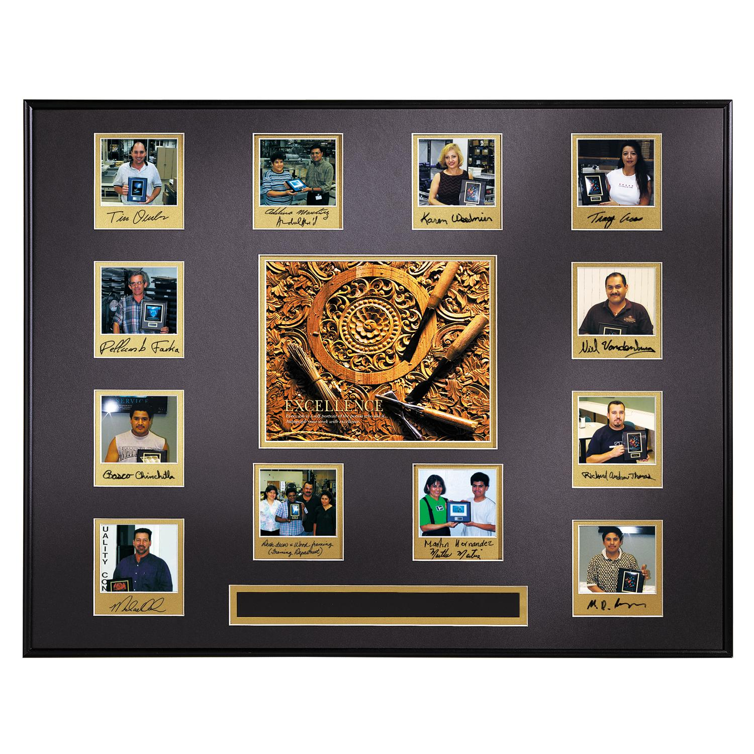 Excellence Wood Carving Photo Perpetual Award Plaque