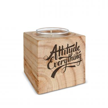 Attitude is Everything Personalized Wooden Candle