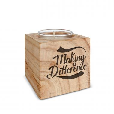 Making a Difference Personalized Wooden Candle