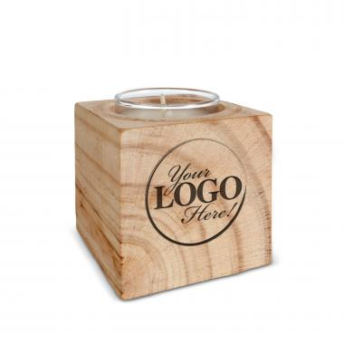 Personalized Wooden Candle