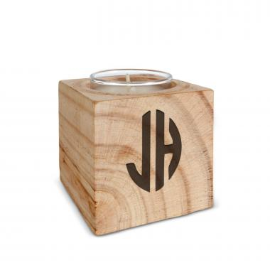 Monogram Wooden Candle