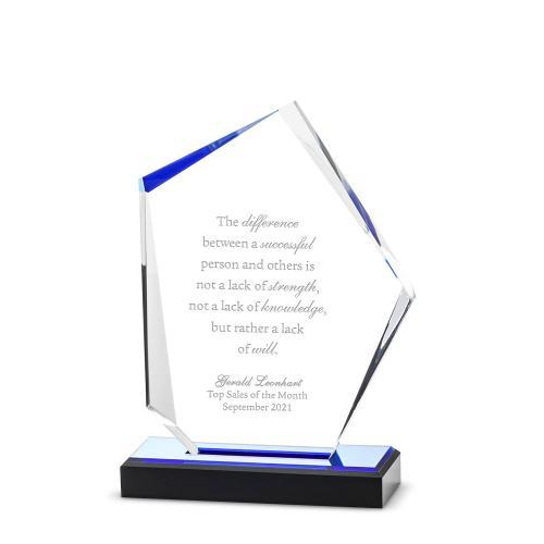 Sapphire Jewel Acrylic Award