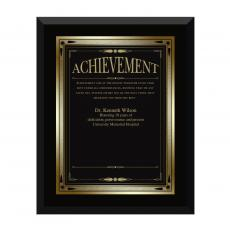 Ebony Achievement Award Plaque