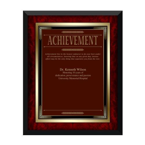 Rosewood Achievement Award Plaque