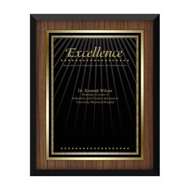 Walnut Excellence Award Plaque