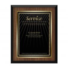 Customer Service Week - Walnut Service Award Plaque