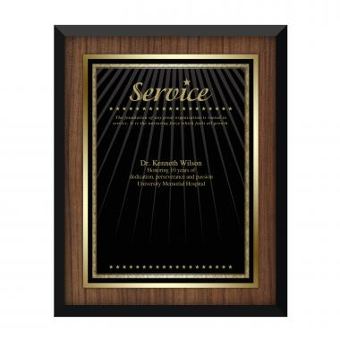 Walnut Service Award Plaque