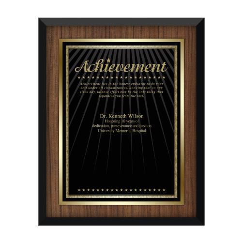Walnut Achievement Award Plaque