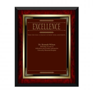 Rosewood Excellence Award Plaque