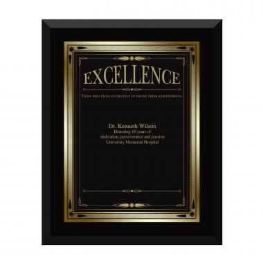 Ebony Excellence Award Plaque