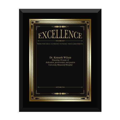 Ebony Excellence Award Plaque