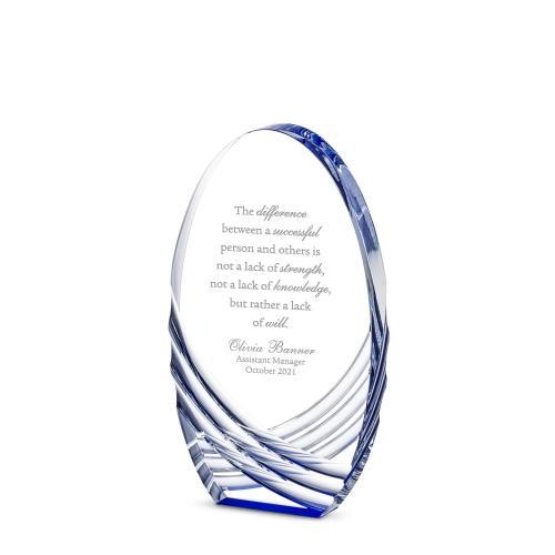 Sapphire Axis Acrylic Award