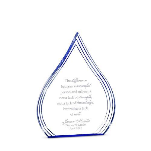 Sapphire Drop Acrylic Award