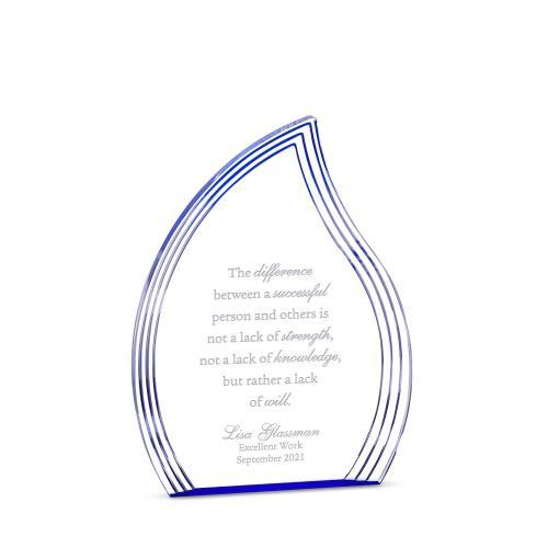 Sapphire Flame Acrylic Award