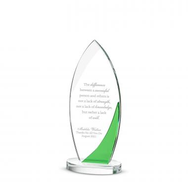 Painted Crest Crystal Award