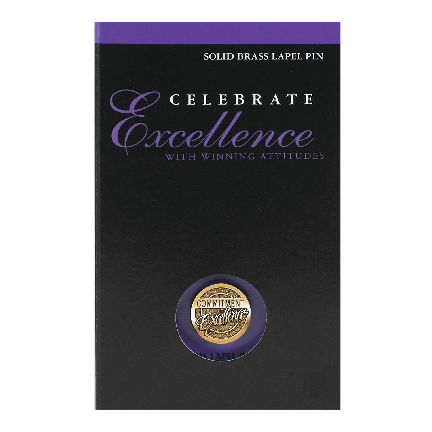 Commitment to Excellence Medallion Lapel Pin