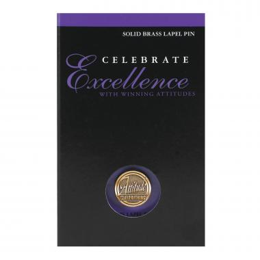 Attitude is Everything Medallion Lapel Pin